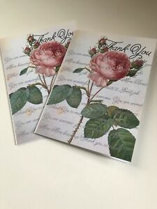 2 pierre joseph redoute Inspired Print Thank You Cards