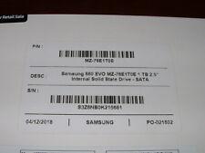 New Samsung 860 EVO 1TB SSD OEM in white box MZ-76E1T0 860EVO 2.5 Internal SATA3