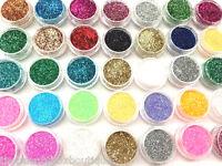 Glitter Pots - Cosmetic Eye Shadow Lip Temporary Tattoo Nail Art Craft Face Body