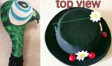 ADULT Mary Poppins inspired Hat & parrot head brolly ..