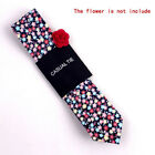 New Fashion Men Skinny Slim Retro Cotton Neck Tie Necktie Floral Print Tie Suit