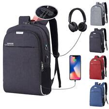 USB Zaino Anti furto Zaino per Laptop Computer PC Borsa da Scuola Viaggio Lavoro