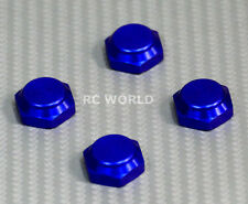 RC 1/8 Buggy Wheels Tires Rims  17MM Anodized WHEEL NUT CAP Blue  -4 pcs-