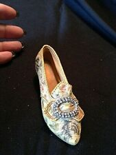 """Miniature Yellow Shoe 1998 """"Just The Right Shoe"""" Afternoon Tea By Raines #25016"""