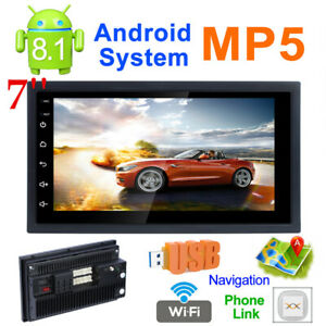 7'' Touch Screen GPS Navi USB Radio Stereo FM MP5 Player for iOS/Android 1+16GB
