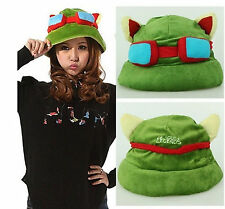 1pc Unisex Cosplay Green League of Legends LOL Teemo Game Video Merchandise Hat