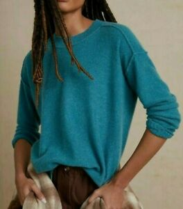 Anthropologie Pilcro Women's Teal-Green 100% Cashmere Knit Sweater M $148