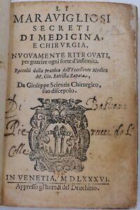 FARMACOLOGIA RICETTE - Zapata: MARAVIGLIOSI SECRETI DI MEDICINA E CHIRURGIA 1586