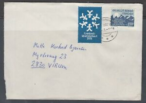 Greenland 1978. Cover to Denmark with tied christmas seal.