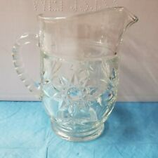 New listing Glass Pitcher - Clear Glass With Design -       #11
