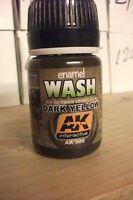 AK00300 AK Interactive - Dark Yellow Wash  model making highlights