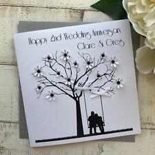 Handmade Personalised Wedding Anniversary Card Wife, Husband, Son, Daughter, Mum
