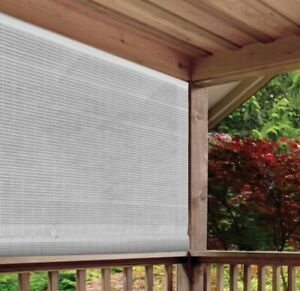 NEW Radiance PVC Light Filtering Manual Roll Up Sun Shade - White