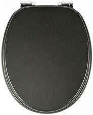 Sanwood 333657 Wc-Toilettensitz MARLON mit anthrazit-Metallic-Effekt aus MDF