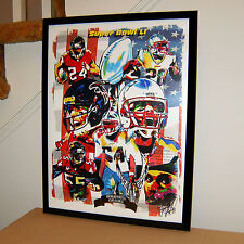 Super Bowl Li, Patriots, Falcons, Tom Brady, Matt Ryan, Football, 18x24 Poster 2