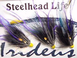 Irideus  tube flies Sublime Purple prince  Streamer flies Trout Fly Fishing