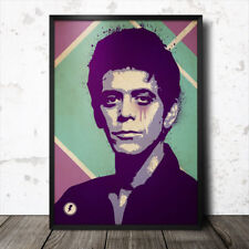 Lou Reed Velvet Underground Music Icono Pop Art Poster Iggy Pop