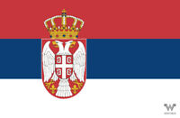 Flagge Serbien Aufkleber 8,5 x 5,5 cm – Fahne - Sticker - WHATABUS