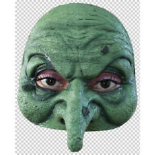 Quality latex Witch Mask , for Half face use Green in colour adult size