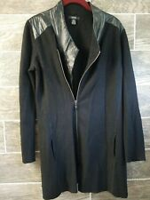 ALFANI Women Sweater Long Sleeves Black Zipper Cardigan Size Small Wool