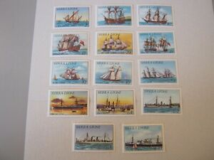 SIERRA LEONE  1984 HISTORY of SHIPPING SET to 10l SG 820B-833B MINT NEVER HINGED
