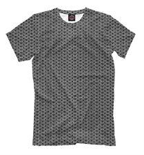 Chain mail armor t-shirt metal male print hauberk iron protection warior
