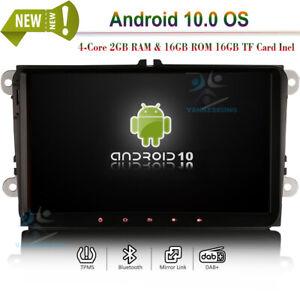 "9"" Android Autoradio GPS Sat Navi Bluetooth CarPlay Für VW Touran Tiguan Sharan"