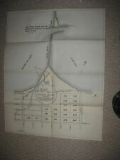 ANTIQUE 1895 ERIE IN 1837 GARRISON GROUND LIGHTHOUSE PENNSYLVANIA MAP SUPERB NR