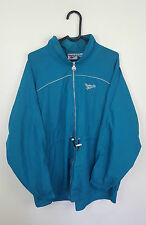 VTG RETRO TURQUOISE REBEOK ATHLETIC SPORTS ZIP-UP TRACKSUIT TOP JACKET VGC UK XL