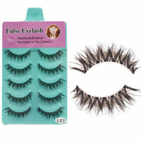 5 Pairs Natural Thick Demi Wispies False Eyelashes Fake Eye Lashes Wispy - S1