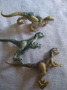"""Jurassic World Velociraptor Dinosaur Raptor lot, Blue, 8 Long 3"""" Tall"""