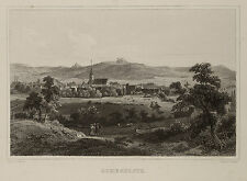 Scheßlitz Gesamtansicht. Stahlstich von Riegel, 1853