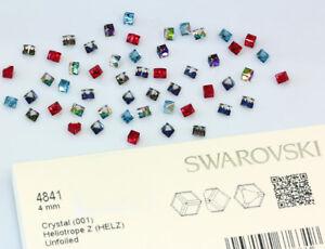 Genuine SWAROVSKI 4841 Cube Fancy Stones Crystals * Many Colors & Sizes