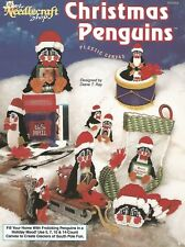 Christmas Penguins Plastic Canvas Patterns Centerpiece Stocking Coasters TNS