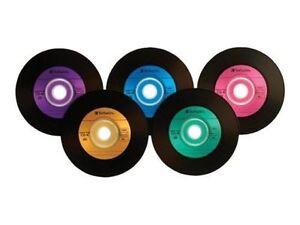25 VERBATIM 700MB 52X CD-R Digital Vinyl 80Min Media Disc in Paper Sleeves