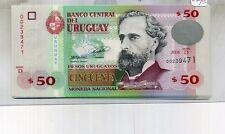 2011 URUGUAY $50 PESO CURRENCY NOTE CU 4610D