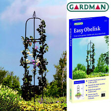 GARDMAN METAL GARDEN OBELISK - CLIMBING PLANTS / ROSES IDEAL GARDEN GIFT!