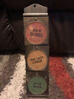 Vintage Stop Light Hanging Coaster Set Of 6