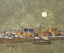 SUNLIT INDIAN PUEBLO II  20 x 24 HQ  Oil Painting on Canvas by J. Marto