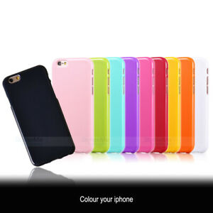iPhone 8, 7, 6 / 6S Cover for Apple Slim Gel Silicone Case Assorted Colours