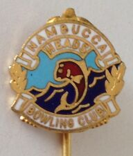 Nambucca Heads Bowling Club Pin Badge Fishing Rare Vintage (L5)