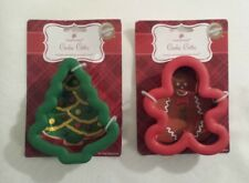 Wilton Comfort Grip Christmas Cookie Cutter Lot New NIP Tree Gingerbread Boy #2