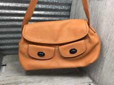 Nine West Classic Satchel Handbag Coral Vegan Leather Outer & Inner Pockets