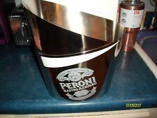 Brand New Peroni Beer Engraved Ice Bucket Stainless Steel Nastro Azzurro NIB