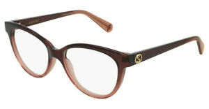 Gucci GG0373O glasses in 003 brown with Gucci case, pouch & cloth 52mm