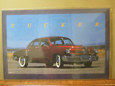 vintage 1988 Tucker car poster garage man cave  5288