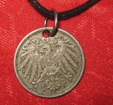 SALE VINTAGE EARLY 1900's GERMAN GERMANY EAGLE COIN PENDANT CHARM NECKLACE