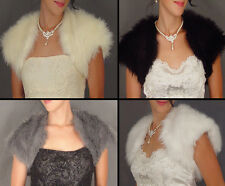 MONGOLIAN FAUX FUR BOLERO SHRUG BRIDAL JACKET WEDDING