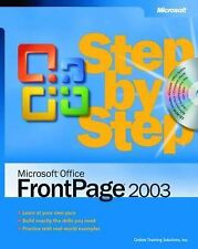 FrontPage 2003 Step by Step Book/CD Package (Step by Step (Microsoft)), Online T