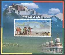 CHINE 2001 CHEMIN DE FER/TRAINS/tracteurs/carte 1 V M/S (n27113)
